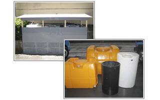 各種タンク用意します。防液壁の設置も可
