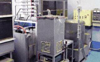 着液中に含まれる銀を電気分解機にて処理